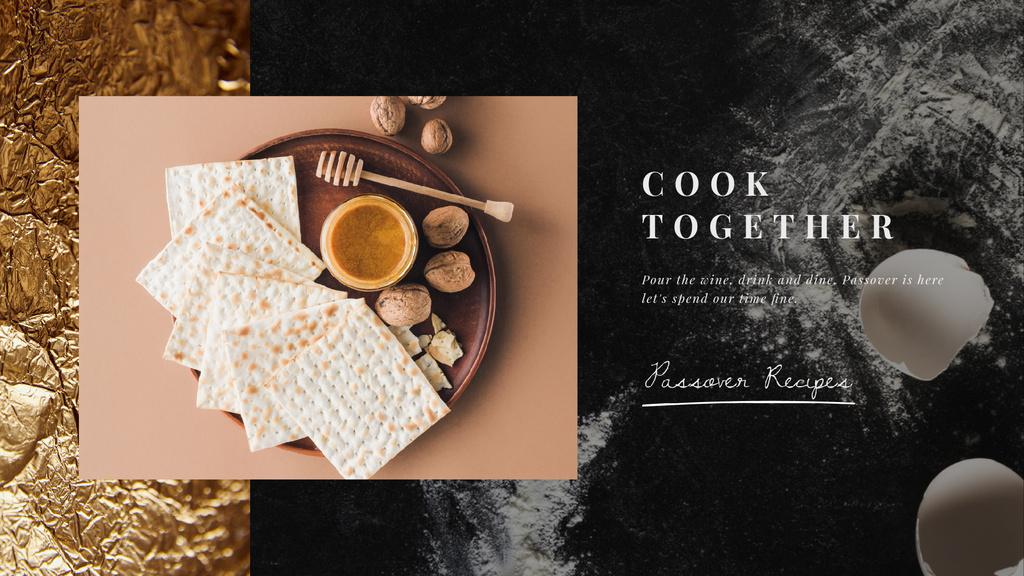 Happy Passover Unleavened Bread and Honey - Vytvořte návrh