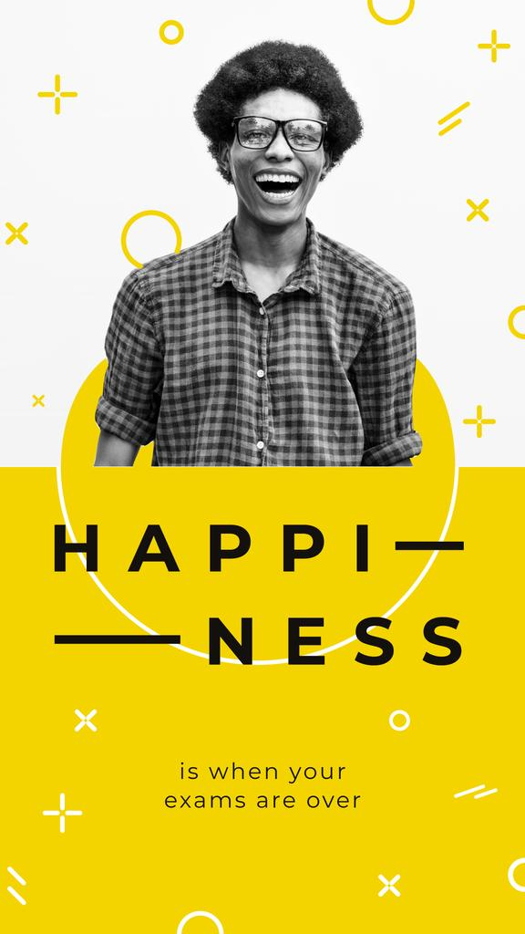 Happy man laughing — Crea un design