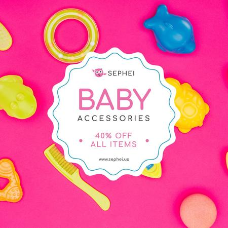 Ontwerpsjabloon van Instagram AD van Baby Store Sale Products and Toys