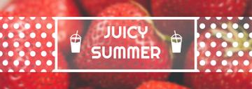 Summer Offer Red Ripe Strawberries | Tumblr Banner Template