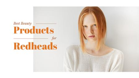 Beauty products for redheads Presentation Wide Tasarım Şablonu