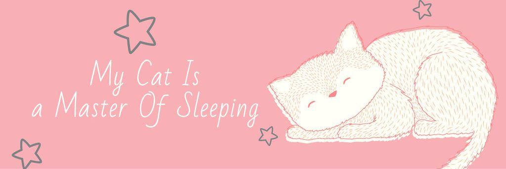 Citation about sleeping cat — Создать дизайн