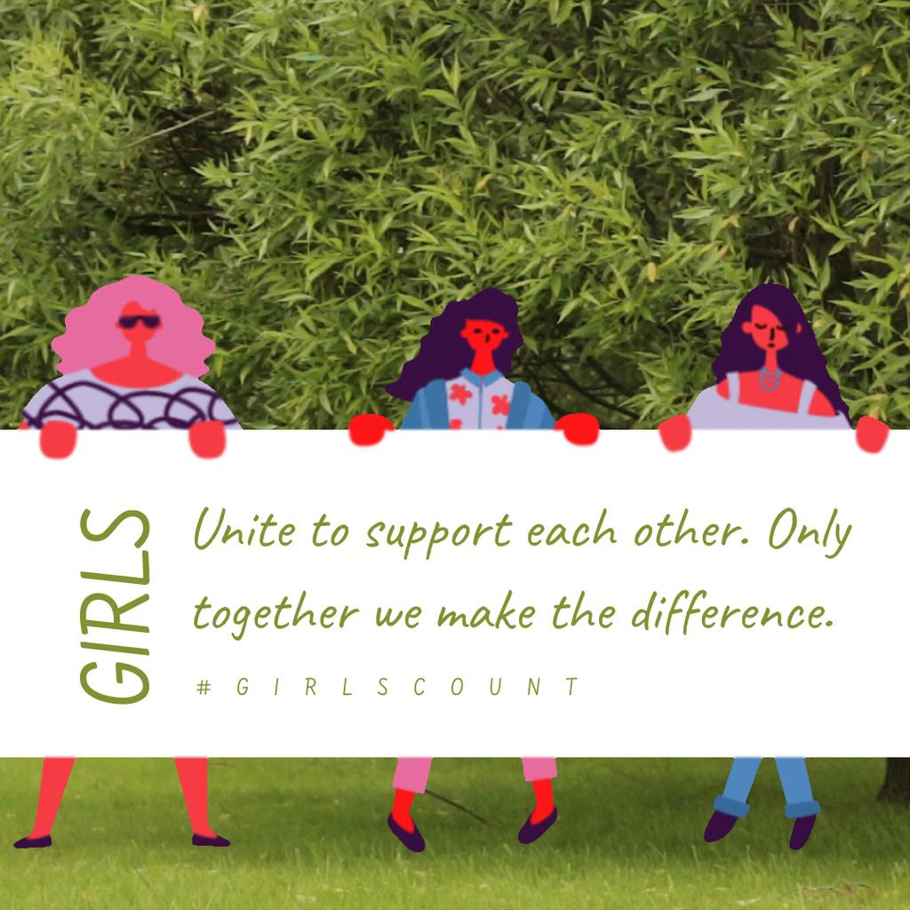 Diverse women on riot on Women's Day — Maak een ontwerp