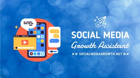 Social Media Management Phone Pop-Up Icons Full HD video Modelo de Design