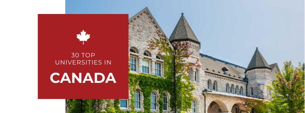 Top universities guide with Campus building — Crea un design