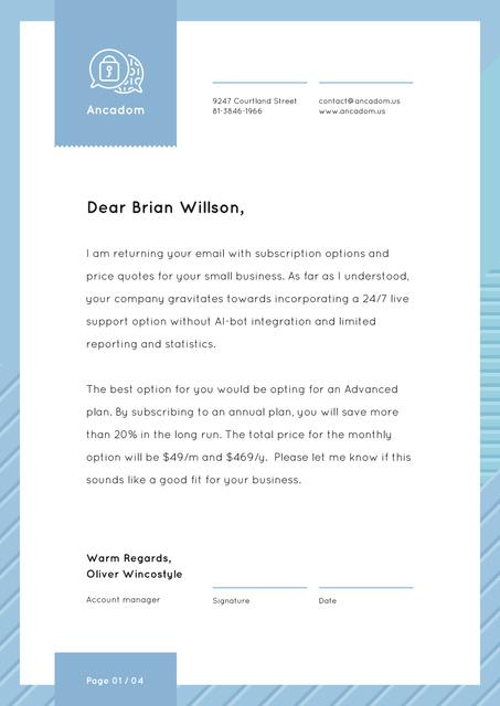 Subscription Services offer Letterhead Design Template