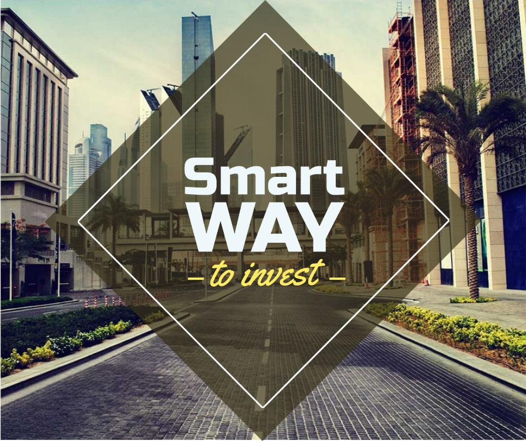 Real Estate Investment with Modern City Facebook Modelo de Design
