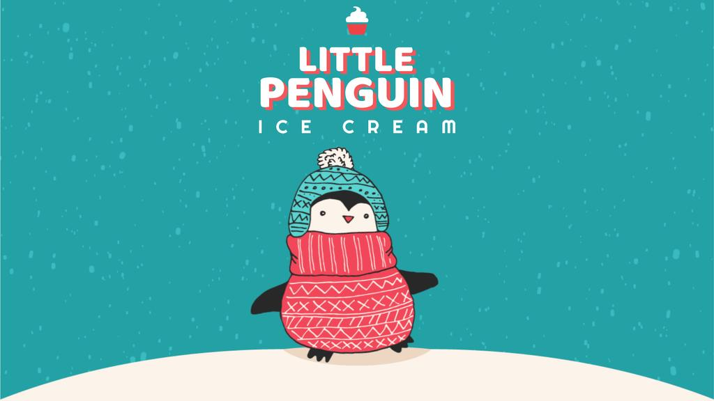 Cute winter penguin in hat — Create a Design