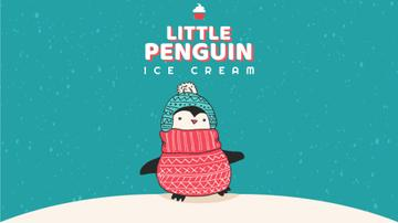 Cute Winter Penguin in Hat | Full Hd Video Template