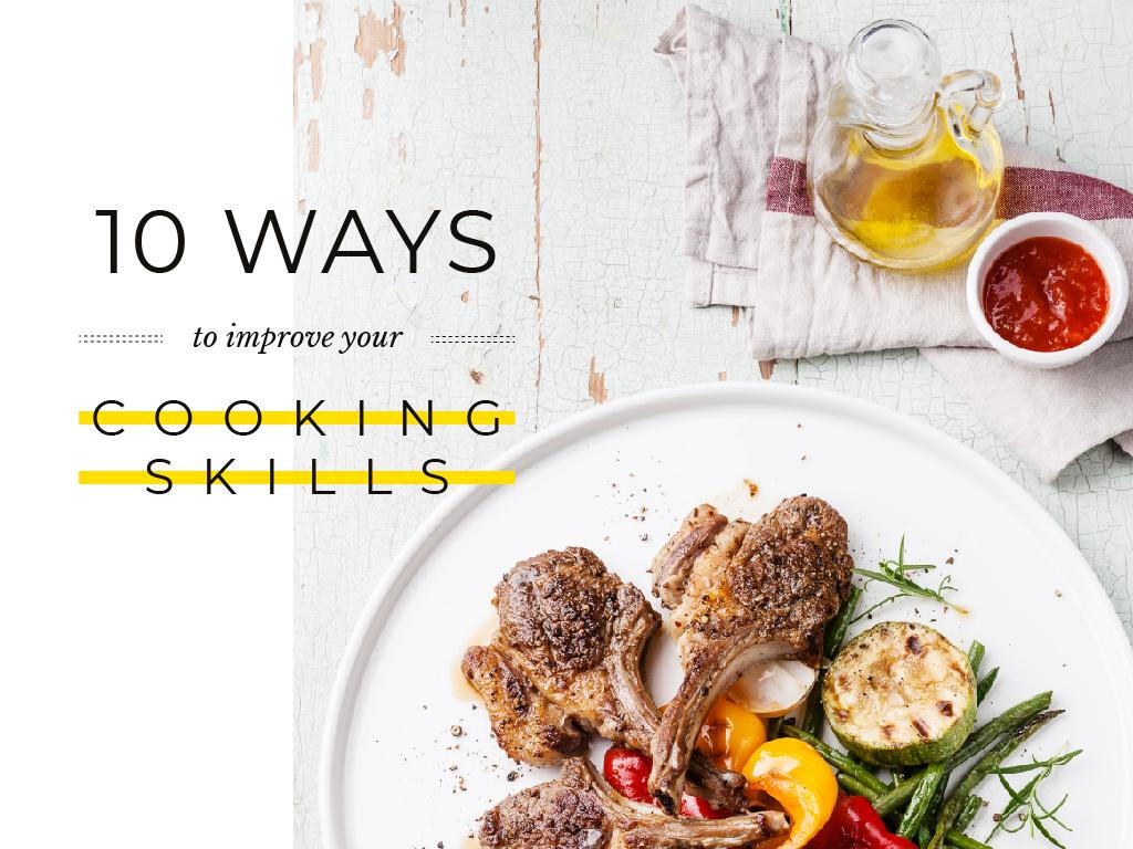 Delicious Dish in Plate — Crea un design