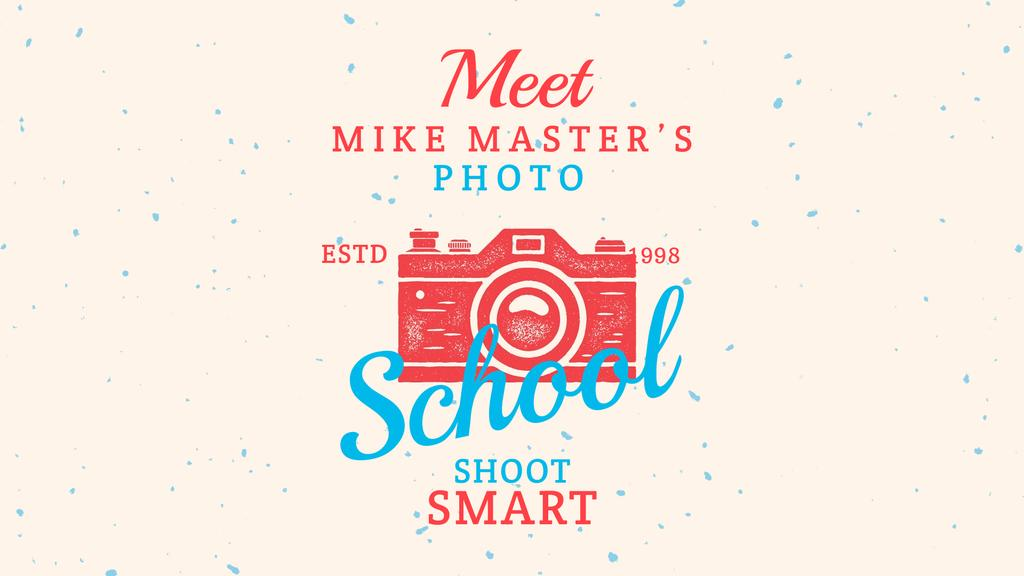 Photo School Ad Stamp of Camera | Full Hd Video Template — ein Design erstellen