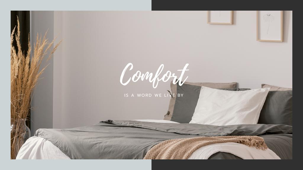Comfortable Bedroom in grey colors —デザインを作成する