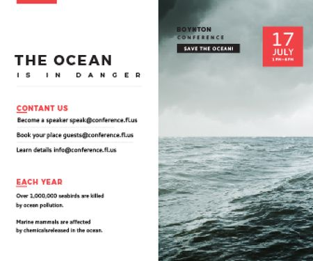 Plantilla de diseño de Boynton conference the ocean is in danger Large Rectangle