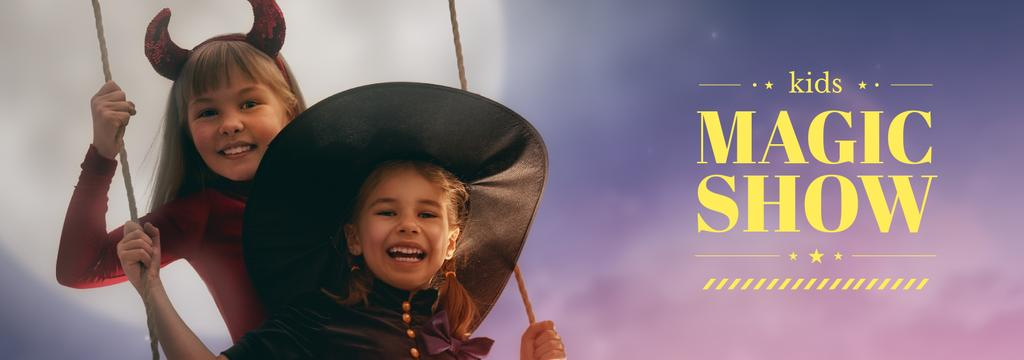 Magic Show Inspiration Girls in Halloween Costumes | Tumblr Banner Template — Créer un visuel