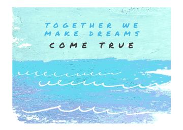 Inspirational Quote with Ocean Painting
