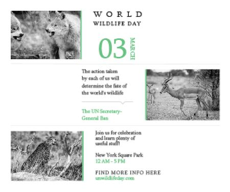 Ontwerpsjabloon van Medium Rectangle van World wildlife day