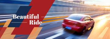 Red Sports Car Driving Fast | Tumblr Banner Template