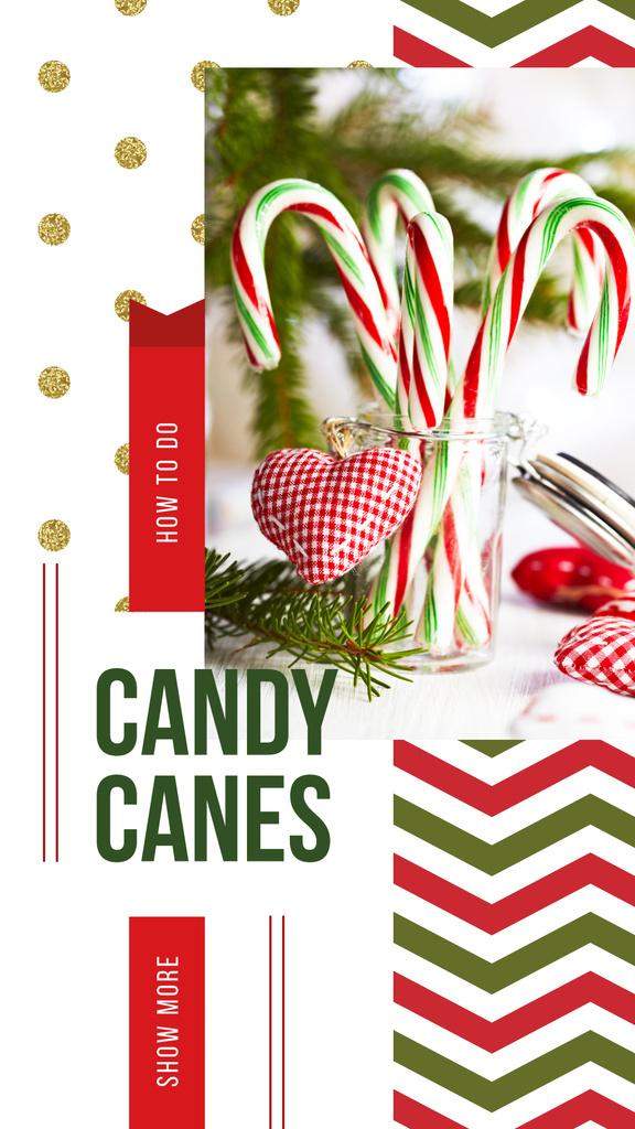 Christmas decor with candy canes — Créer un visuel