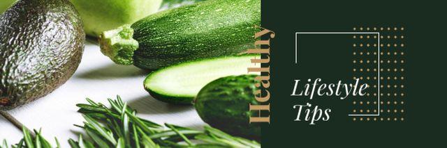Plantilla de diseño de Healthy Food with Vegetables and Greens Email header
