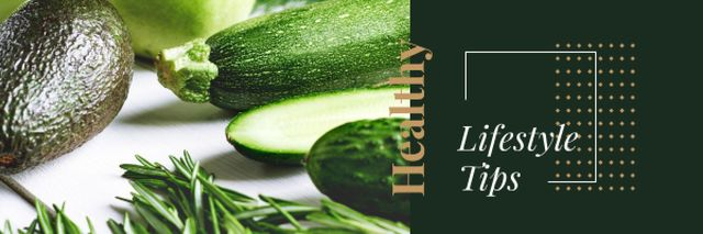 Healthy Food with Vegetables and Greens Email header Tasarım Şablonu