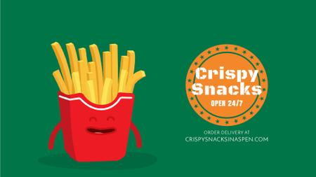 Plantilla de diseño de Fast Food Menu Cheerful French Fries Full HD video
