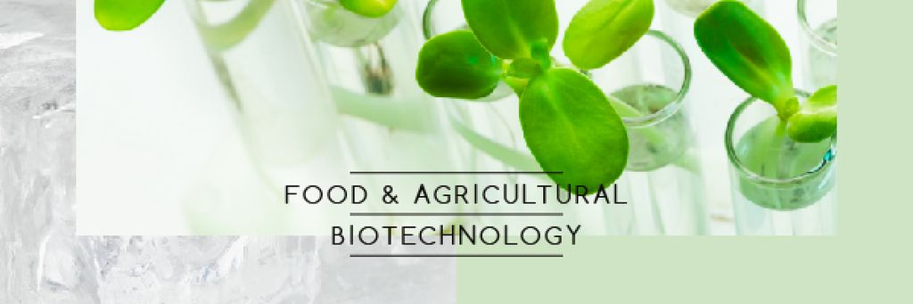 Biotechnology Green Plants in Test Tubes | Email Header Template — Створити дизайн
