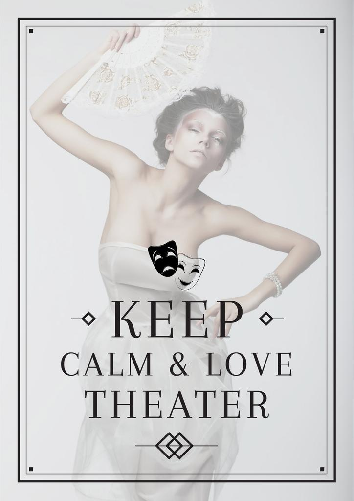 Citation about love to theater — Crear un diseño