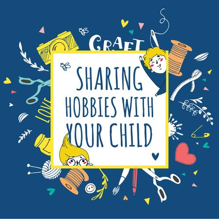 Various hobbies for kids Instagram AD Modelo de Design