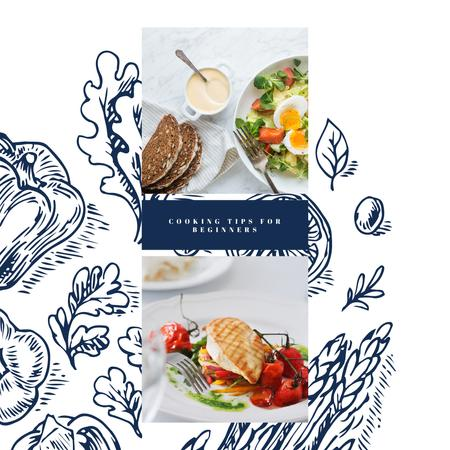 Delicious breakfast meal Instagram Design Template