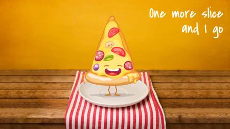 Italian Menu Delicious Pizza Slice Full HD video Modelo de Design