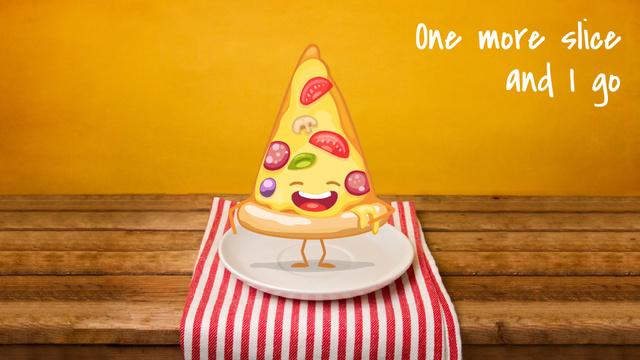 Plantilla de diseño de Italian Menu Delicious Pizza Slice Full HD video