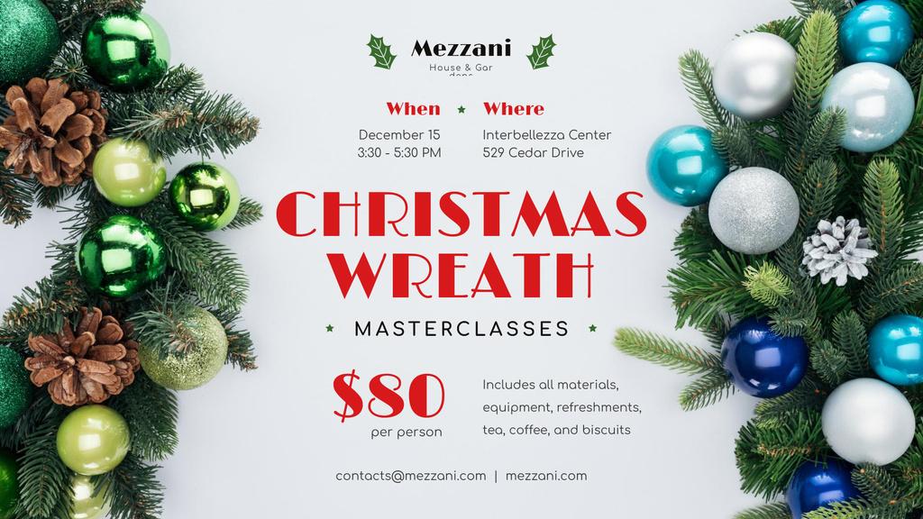 Designvorlage Christmas Decoration Workshop Invitation für FB event cover