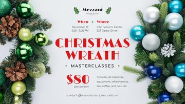 Christmas Decoration Workshop Invitation