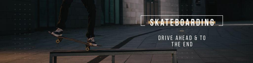 Young Man Riding Skateboard — Maak een ontwerp