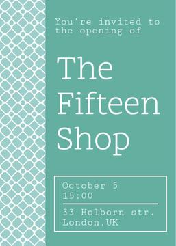Shop Opening Announcement in Blue