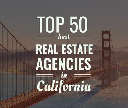 Real estate agencies in California ad Facebook Modelo de Design