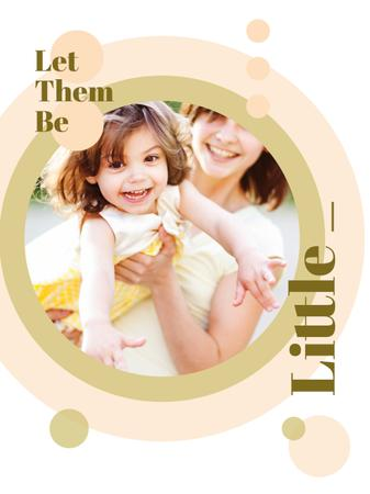 Happy Mother with her Daughter Poster USデザインテンプレート