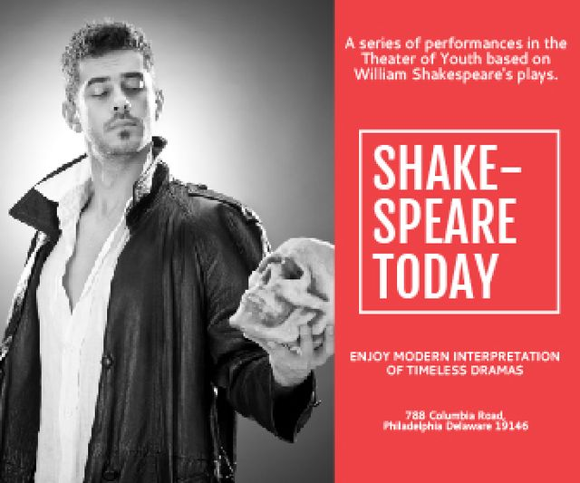 Shakespeare's performances in the Theater of Youth Large Rectangle – шаблон для дизайну