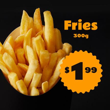 Plantilla de diseño de Special Sale with Fries Instagram