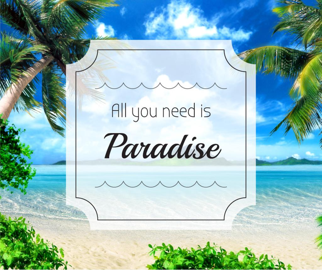 All you need is paradise — Створити дизайн