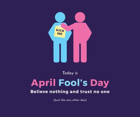 Plantilla de diseño de April Fools Day with people joking Facebook