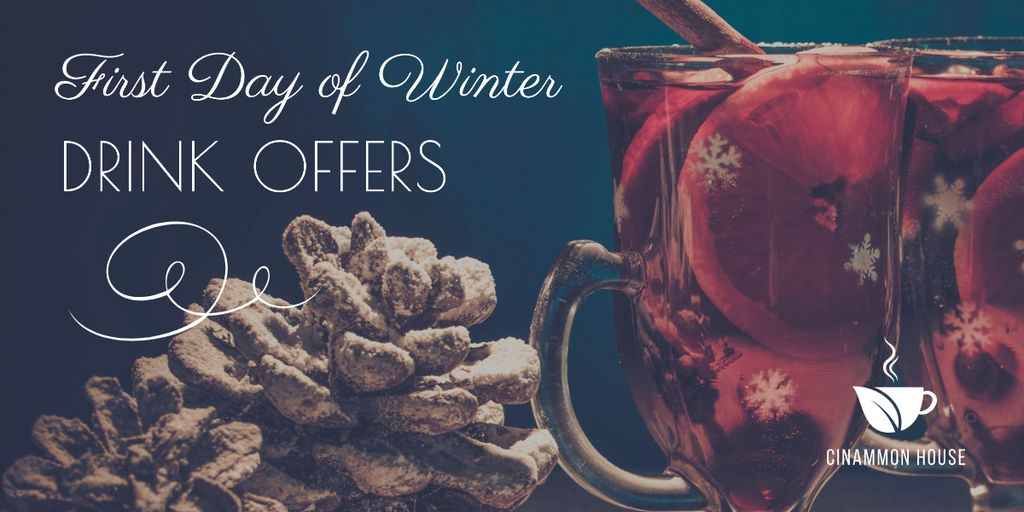 Template di design First day of winter Drinks offer Image