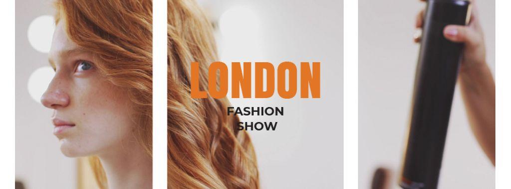 Stylist spraying female hair — ein Design erstellen