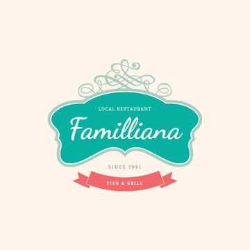 Local Restaurant Elegant Decorative Frame | Logo Template