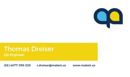 Plantilla de diseño de QA Engineer Services Offer Business card