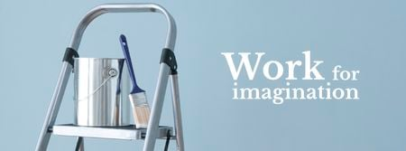 Tools for Home Renovation in Blue Facebook cover Modelo de Design
