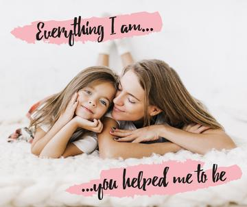 Maternity Quote Happy Mother with Her Daughter | Facebook Post Template