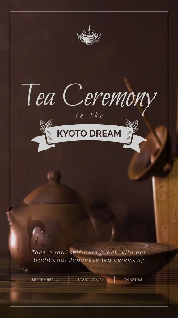 Japanese Tea Ceremony Pot and Ceramics — Modelo de projeto