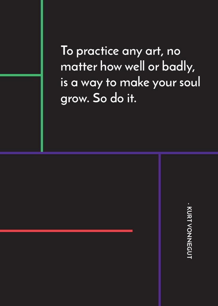 Art Quote in Linear Geometric Frame — Maak een ontwerp