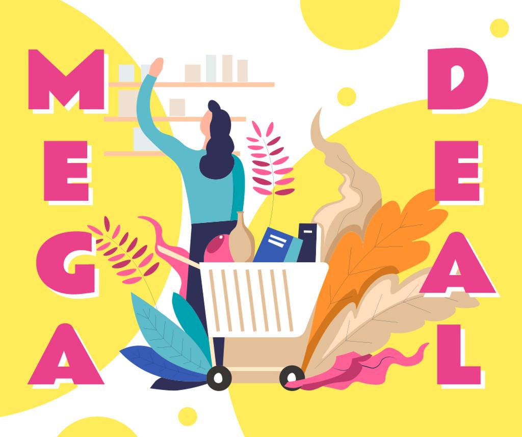 Store Deal with Woman shopping — Modelo de projeto